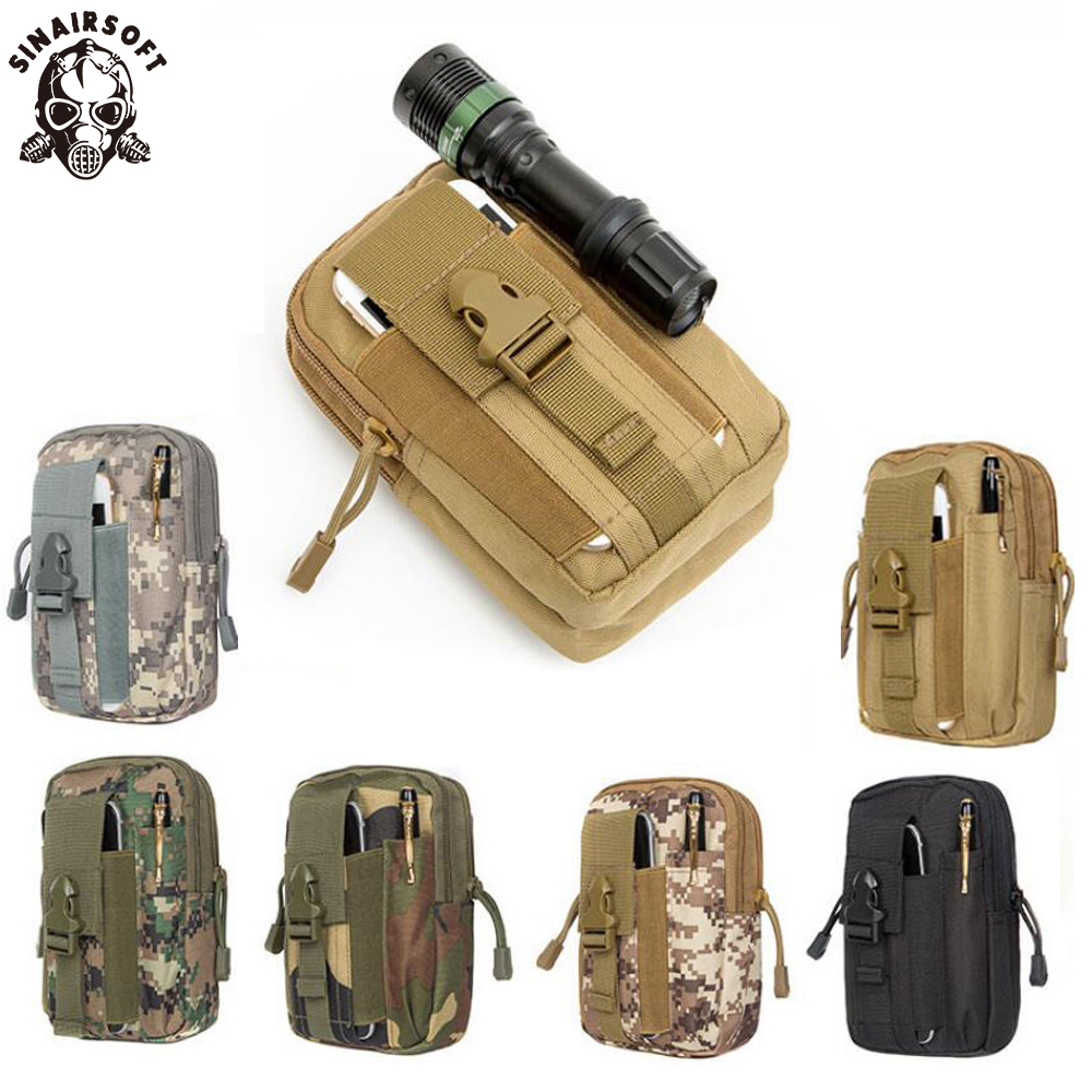 Tactical Pouch Molle Hunting Bags Belt Waist Bag Military Tactical Pack Outdoor Pouches Case Pocket Camo Sport Bag For Iphone