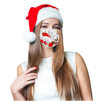 10/50PCs Face Mask Merry Christmas Adult 3-Layer Disposable Masks Meltblown Mouth Mask Reusable Pollution Protective Mascarillas image