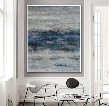 Modern Neutral Abstract Painting Wall Art Texture Minimalist Art Work Hand Made Oil Painting On Canvas Large Minimal Artwork