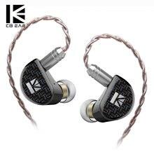 Kbear acreditar 9mm pure berílio diafragma 1dd na orelha fone de ouvido com 0.78mm banhado a ouro 2 pinos 6n único cristal cobre litz cabo