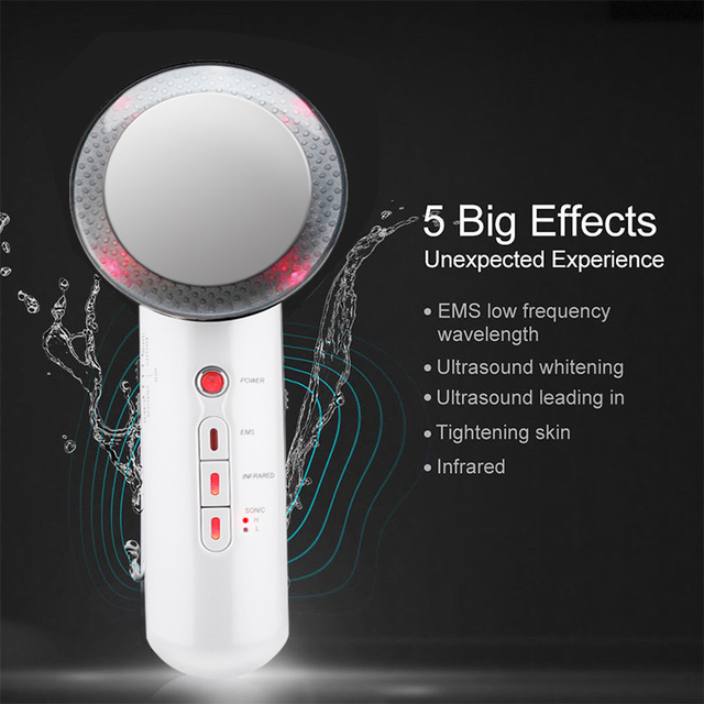 Face Lifting Tool 3 in 1 EMS Infrared Ultrasonic Body Massager Device Ultrasound Slimming Fat Burner Cavitation Beauty Machine 1