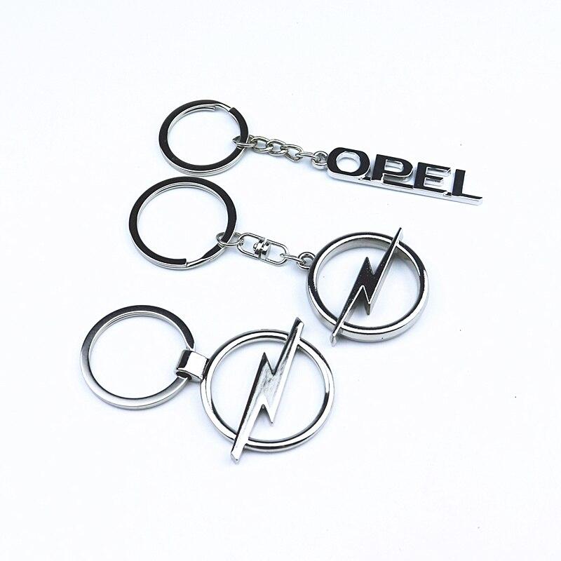 1PCS Metal Emblem Car Key Ring For For Opel Astra H G J Insignia Mokka Zafira Corsa Vectra C D Antara Keychain Car Accessories