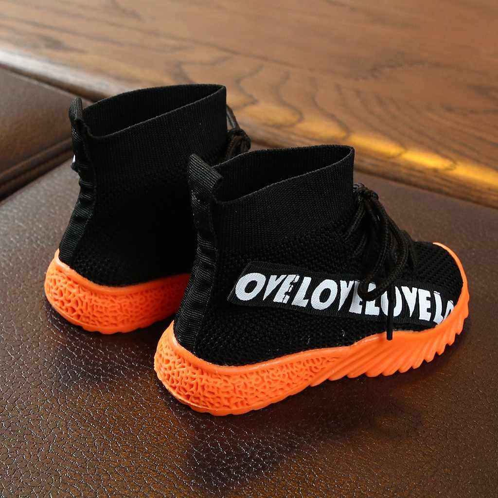 ילדי ילדי נעלי תינוק בנות בני מכתב תחרה עד מגפי למתוח לרוץ סניקרס ספורט נעלי פעוט ילדי תינוק בנות בני מגפיים