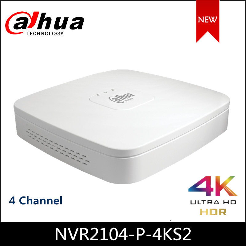 Dahua NVR POE NVR2104-P-4KS2 4 Channel Smart 1U 4PoE Lite 4K H 265 Network Video Recorder