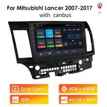 4G + 64G/2G + 32G/1G + 16G Android Auto Radio multimedia Video KEINE DVD Player Navigation Für Mitsubishi Lancer 10 2007   2013 GPS LTE