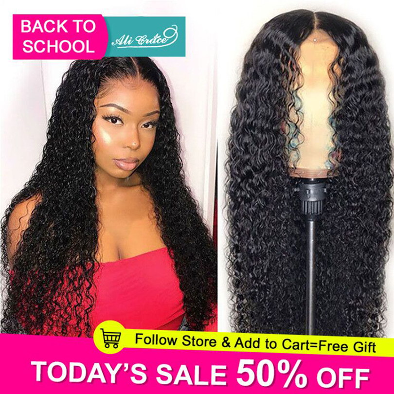 Ali Grace Lace Front Wigs Brazilian Curly Human Hair Wigs Pre Plucked Hairline With Baby Hair