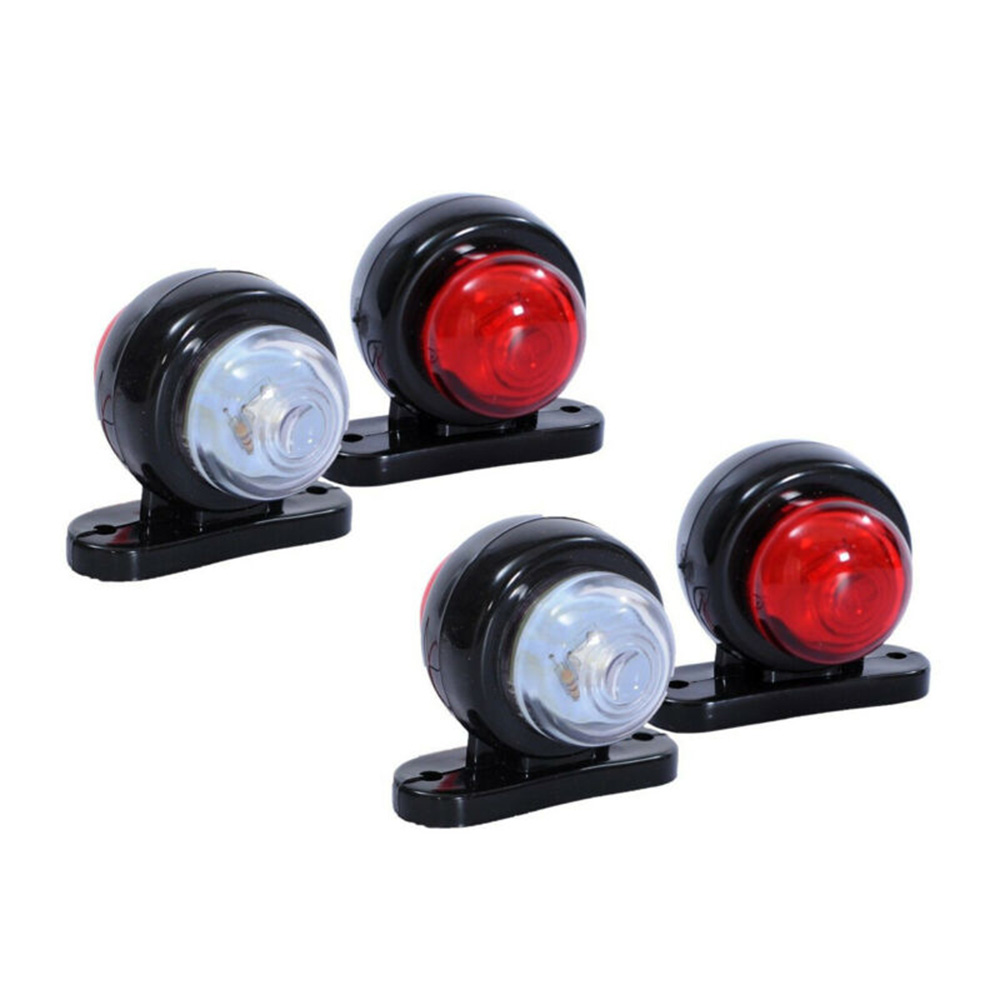 4x Side Outline Marker Lights 24V Trailer Van Truck Caravan Chassis Motorhome orange white red