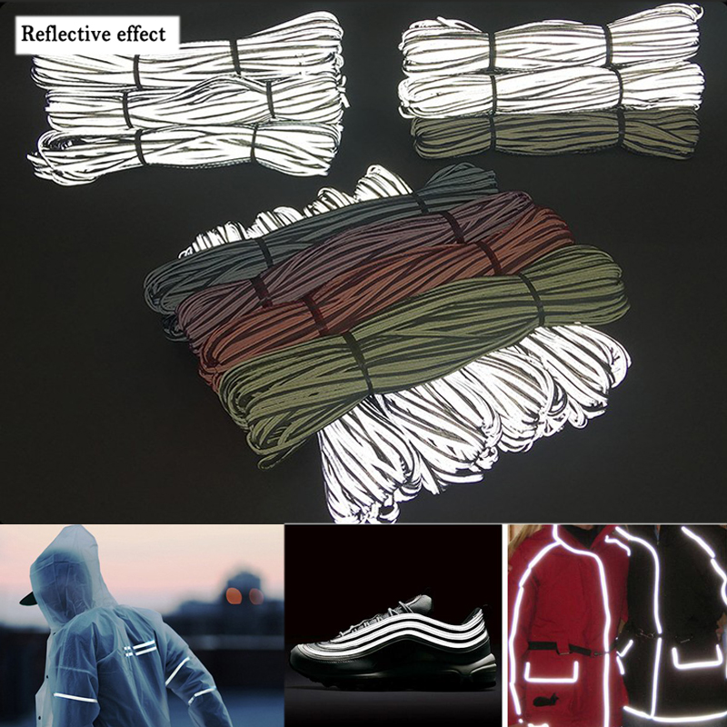 EN471 Bright Silver Reflective Edge Strip Clothing Bag Warning Tipping Reflector Rope