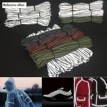 EN471 Bright silver Reflective Edge Strip Clothing Bag Warning Tipping Reflector Rope цена 2017