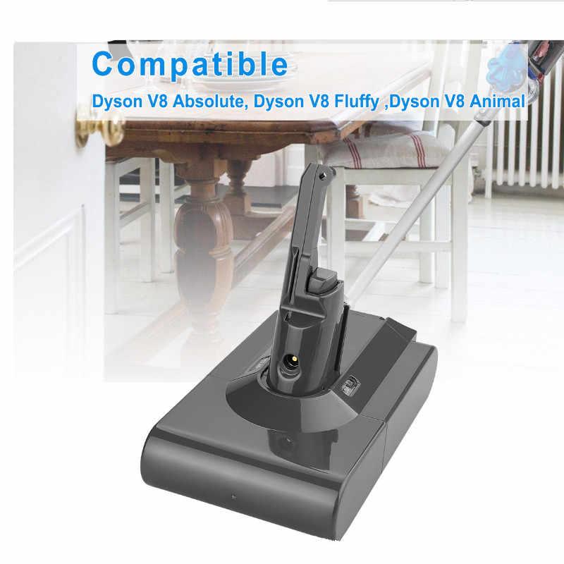 68000mAh 21.6V bateria do baterii Dyson V8 do Dyson V8 Absolute /Fluffy/Animal/ Li-ion odkurzacz akumulator