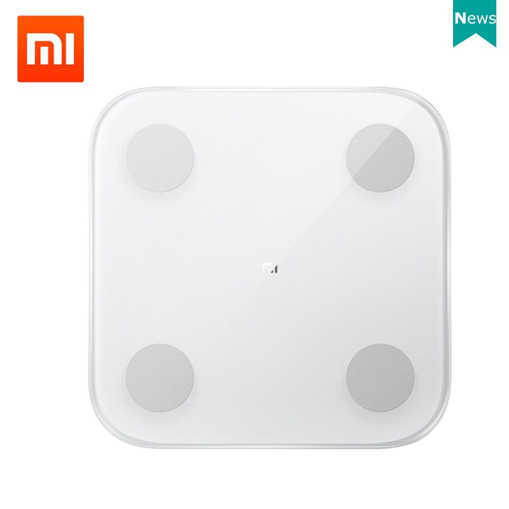 Xiaomi Báscula inteligente original Xiaomi Mi, balanza electrónica, app Mi Fit, pantalla LED, cuadrada|Básculas de baño| - AliExpress