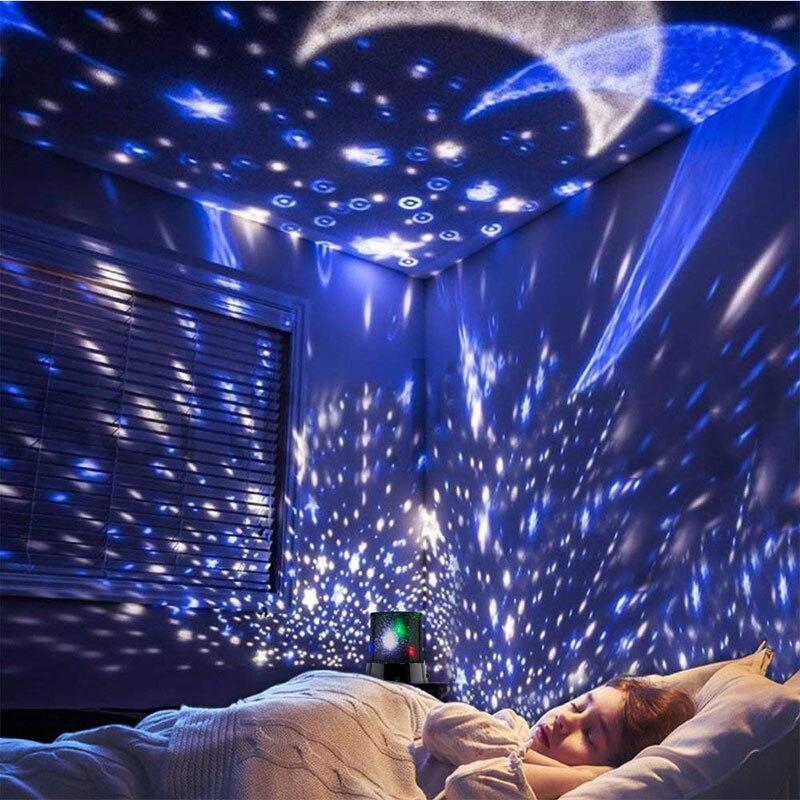 BRELONG RGB coloré brillant veilleuse cosmique ciel étoilé Projection lampe LED atmosphère lampe barre décoration lampe bleu/blanc