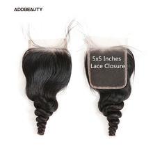 5x5 кружевные свободные волнистые волосы человеческие remy бразильские