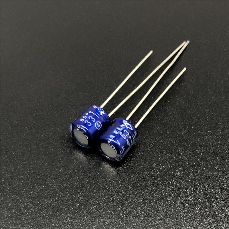 10pcs 47uF 6.3V Japan ELNA 5x5mm 6.3V47uF Audio Capacitor Blue