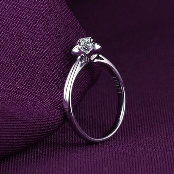 18K Gold And White Gold Platinum Wedding Couple Diamond Ring Men And Women Models Rose Gold Gold Diamond Ring A Carat Genuine 2