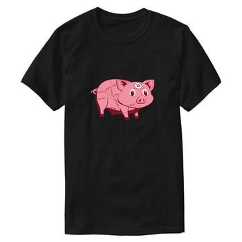 Drukuj Casual Le Mans różowa świnia t shirt dla dorosłych i dziewcząt ubrania strój kobiet t-shirty Harajuku z krótkim rękawem Fitness hiphopowy Top
