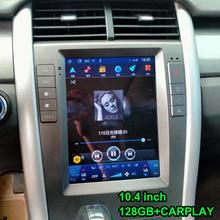 10 4 cal Tesla ekran radia multimedialny odtwarzacz wideo dla Ford Edge 2010 2011 z systemem Android 10 GPS Radio samochodowe CARPLAY Stereo 128GB ROM tanie tanio NAVIRIDER CN (pochodzenie) podwójne złącze DIN 10 4 4*50 w 256G System operacyjny Android 10 0 JPEG frame+glass+metal