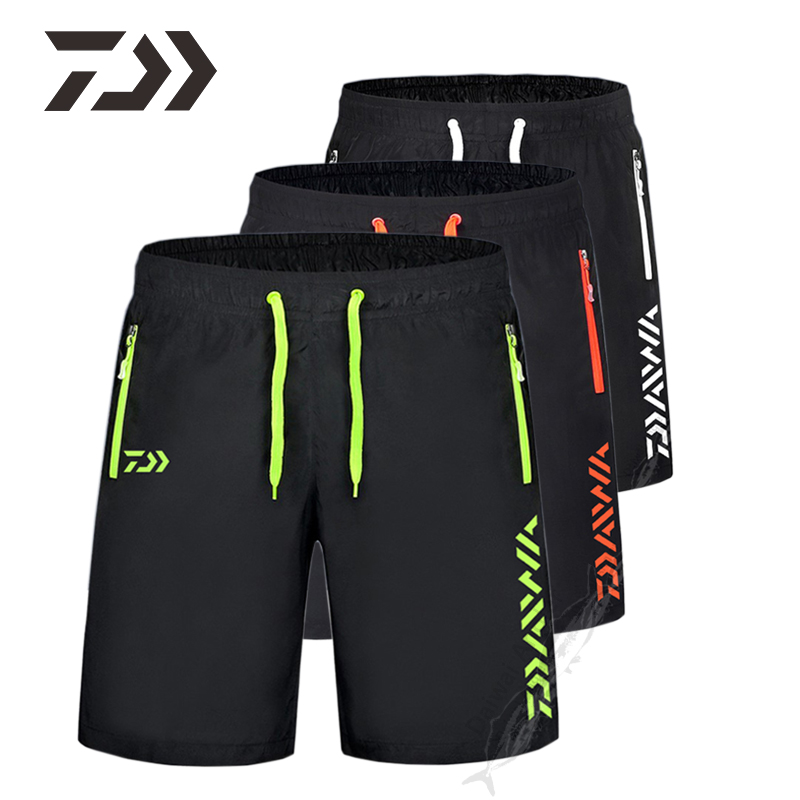 Daiwa Clothing Fishing Shorts Pants Men Summer Breathable Multi Pocket Zipper Fishing Pants Men's Sport Daiwa Pants Unisex M-9XL