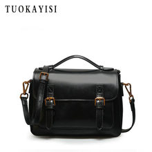 Cow leather Small Square Package Women Shoulder Crossbody Bag Retro Female Handbag 2019 New Designer ladies Messenger Bag(China)