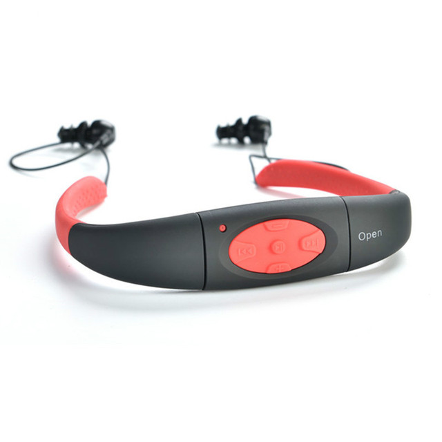 IP8 Waterproof 8GB Underwater Sports MP3 Music Player, Necklace Stereo Audio Earphone, Support MP3, WMA Audio Format 3