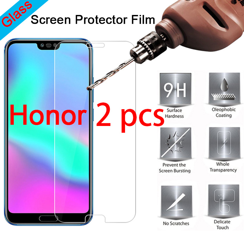 2pcs 9H Tempered Protective Glass For Huawei Honor 10 9 Light Lite Note 10 8 Smartphone Screen Protecor For Honor Play View 10(China)