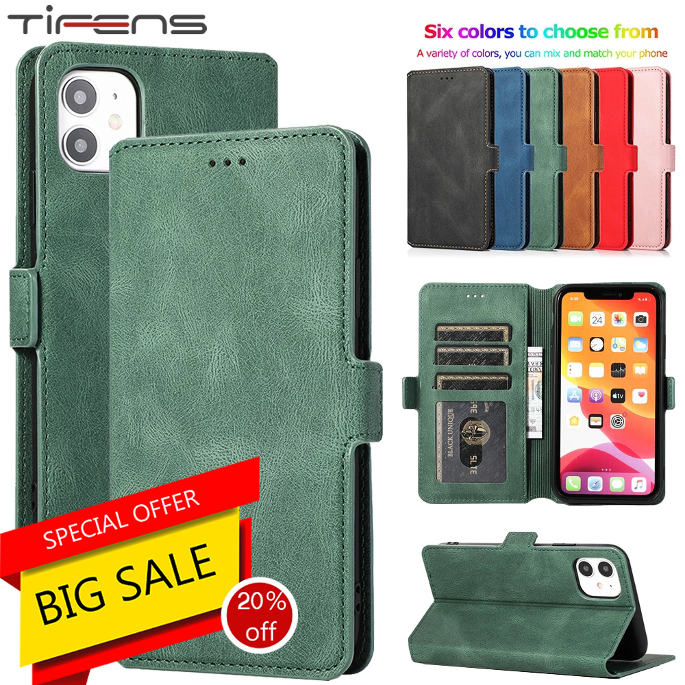Leather Flip Wallet Case For iPhone 12 Mini 11 Pro XS MAX X XR 8 7 6s 6 Plus 5 5s SE 2020 Card Stand Slot Phone Cover Coque Etui