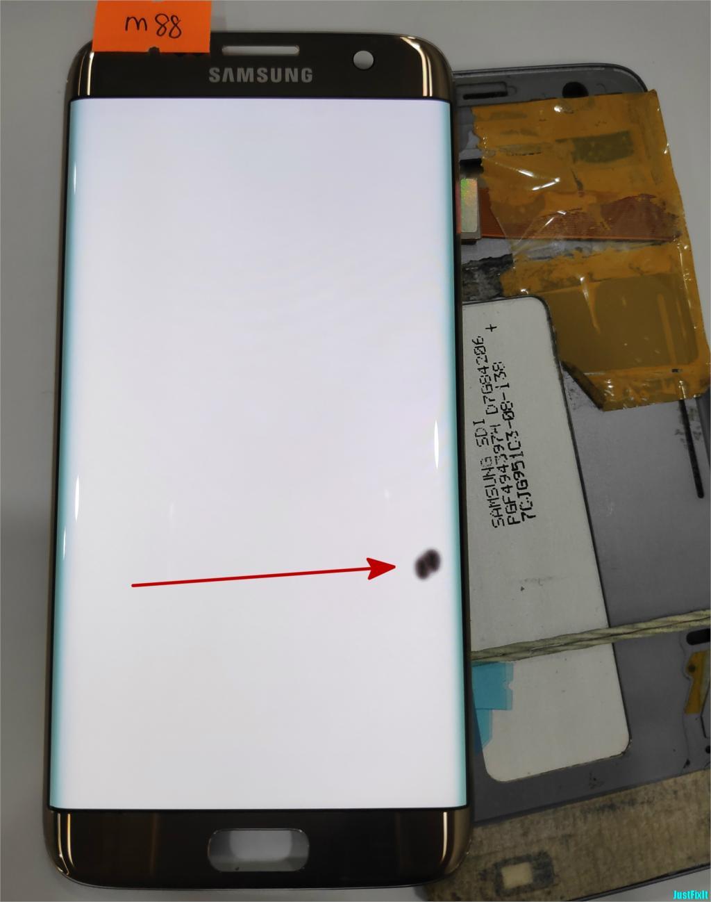 NO M88 for Samsung Galaxy S7 edge G935F G935A G935FD Defect lcd display with touch screen