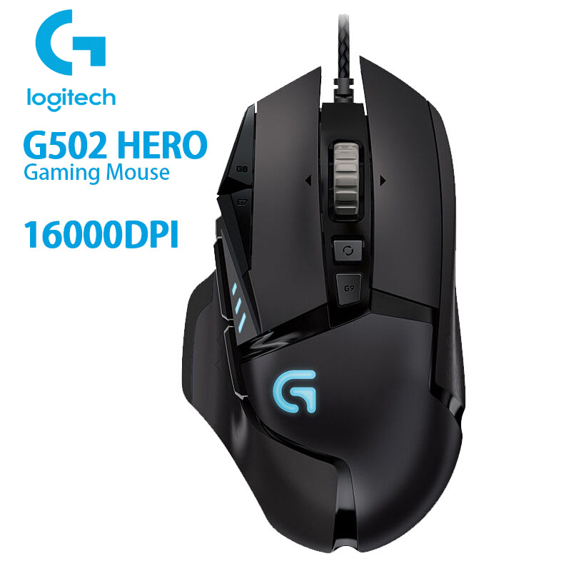 Logitech G502 HERO High Performance Gaming Mouse With 16,000DPI Programmable Tunable LIGHTSYNC RGB For Mouse Gamer Hero Sensor