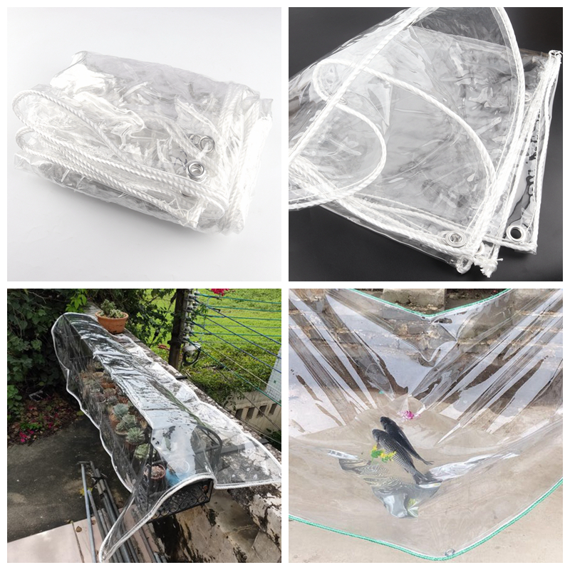 0.3mm Thick Highly Transparent Soft PVC Rainproof Cloth Bonsai Succulent Car Tarpaulin Cloth Garden Plant Cover Keep Warm Film