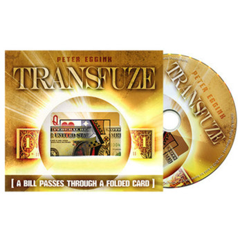 TRANSFUZE By Peter Eggink ( DVD And Gimmick )Magic Tricks Close-Up Stage Parlor Street Card Bill Magic Tricks Illusions Mentalis image