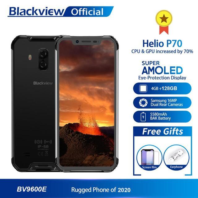 $  Blackview BV9600E New Waterproof Mobile Phone Helio P70 Android 9.0 4GB RAM 128GB ROM 6.21