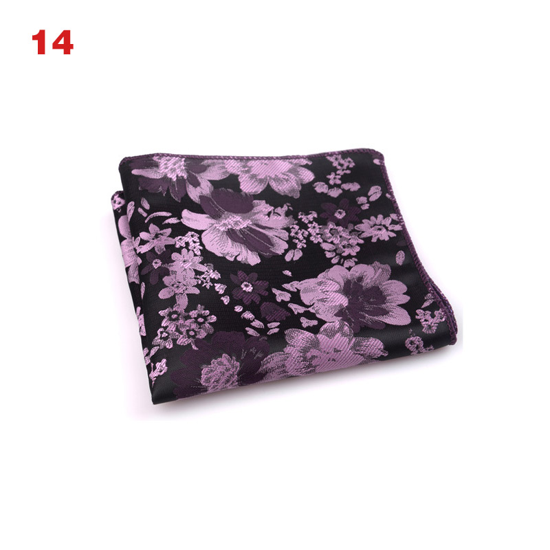 Hot Sale Vintage Men British Design Floral Print Pocket Square Handkerchief Chest Towel Suit Accessories