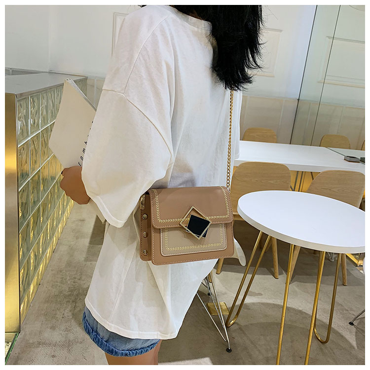 H7b284d2efceb486e83b8a8f3973c2f858 - Chain Pu Leather Crossbody Bags For Women Small Shoulder Messenger Bag Special Lock Design Female Travel Handbags