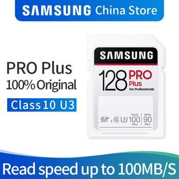 Samsung SDHC CARD PRO Plus 32GB 64GB 128GB 256GB SD CLASS10 U1/U3 Memory Card For 1080p 3D 4K Video Camera SDXC