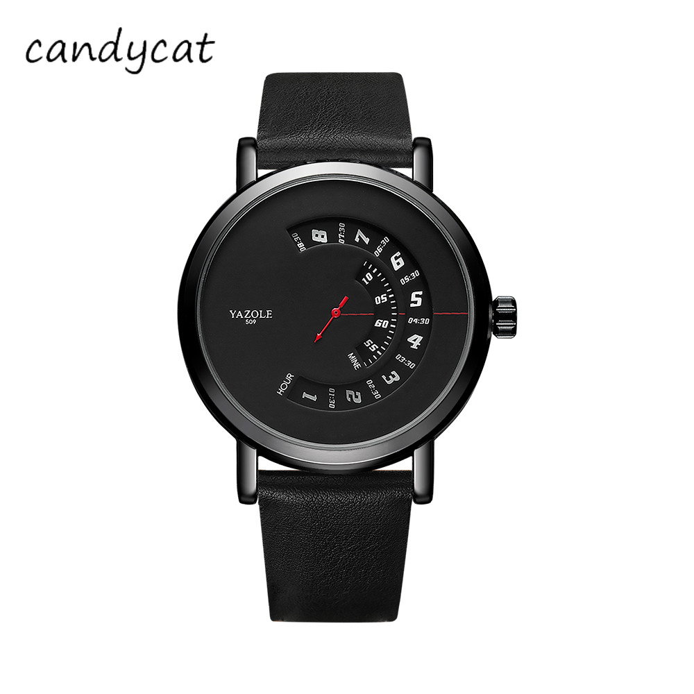 Candycat New Dial Waterproof Sports Men's Watch Hot Creative Quartz Word Gifts For Man Watch