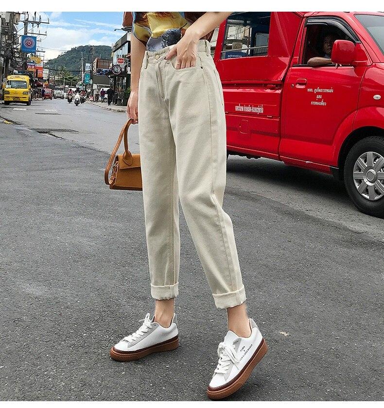 Boyfriend Jeans For Women Loose Denim Pants Mom Harem Women Jeans Summer High Waist Jean Femme Capris Women's Boyfriend Jeans