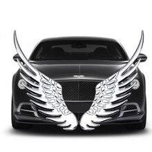 Pegatinas metálicas 3D doradas y plateadas para coche, calcomanías con emblema para BMW, Audi y Ford, 1 par