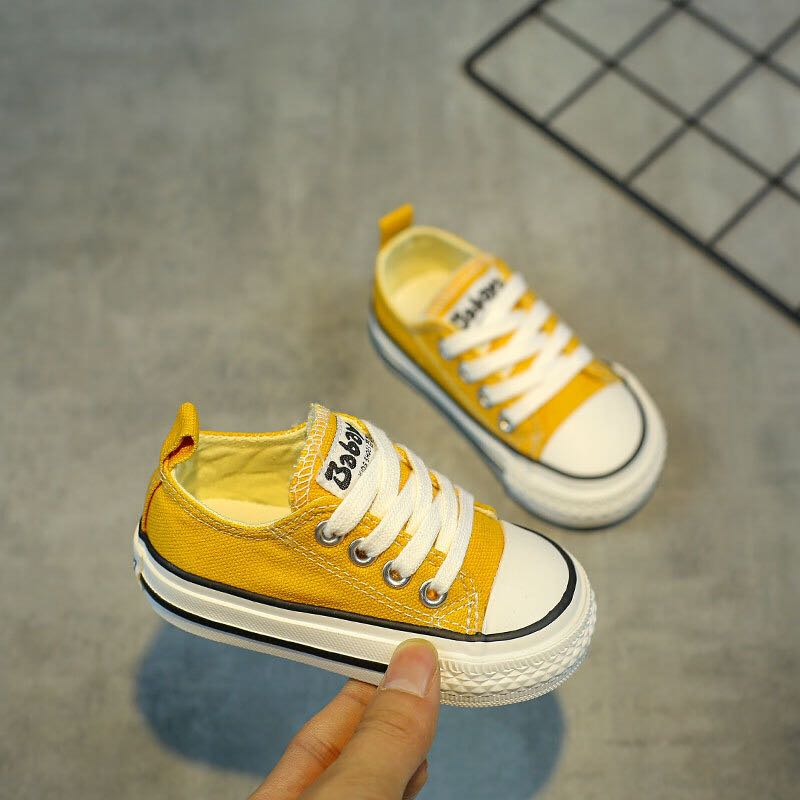 Baby Shoes Girls Children Canvas Shoes 1-3 Year Old Soft Bottom 2019 Autumn Fashion Baby Boys Casual Toddler Shoes For Girl