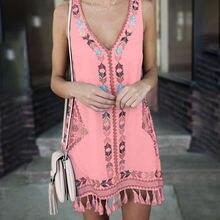 Летнее богемное пляжное платье размера плюс m 5xl женское модное