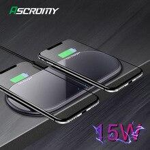المزدوج 15W سريع تشى اللاسلكية وسادة الشاحن لسامسونج Note10 فون 11 برو ماكس هواوي زميله 30 20 الموالية التعريفي جهاز شحن محطة