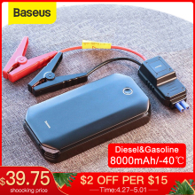 Arrancador de batería de coche Baseus dispositivo de arranque Banco de energía de batería emergencia Booster cargador de coche