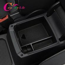 Caixa de armazenamento para braço de carro, armazenamento para console volkswagen vw tiguan mk2 2016   2020 central, caixa interior organizador,