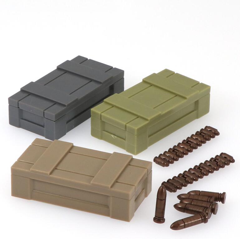 3 teile/los Militär Bausteine Figuren Weltkrieg 2 Waffen Box Lagerung Box Montieren Spielzeug Für Soldat Armee B132 Sperren    - AliExpress