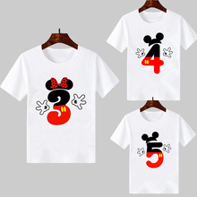 Boys Girls Happy Birthday Number 1-9 Letter Print T-shirt Baby Summer Cute Clothes Kids Funny Birthday Gift custom Tshirt Top boysgirls happy birthday letter number 1 9 birthday present cartoon t shirt kids funny clothes children summer baby t shirt