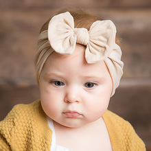 Baby Headband Girls Hair Accessories Cotton Rabbit Ear Turban Bow Elastic Hairband Baby Princess Christmas Day Gifts