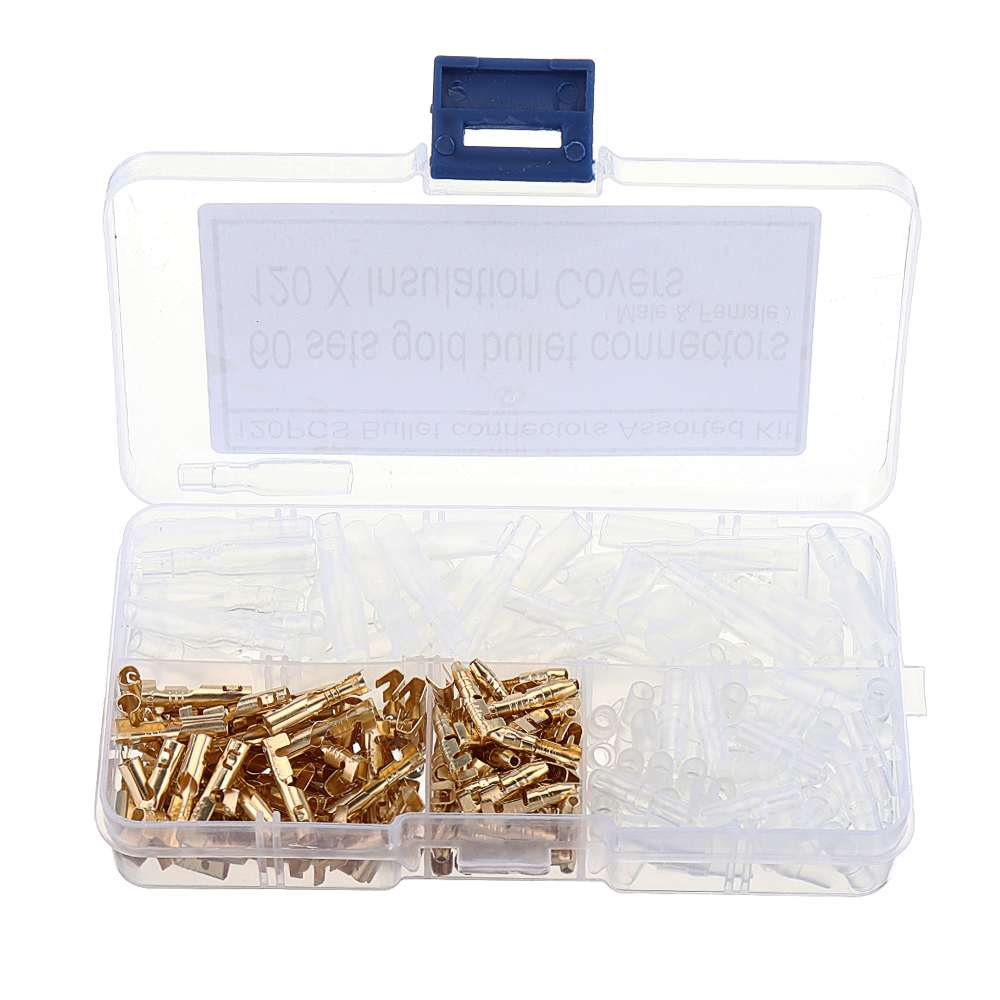 CLAIT 120pcs 3.5MM Bullet Male-female Connection Terminal With Insulating Cover For Car Auto Truck Fast Wire Connector Jacket