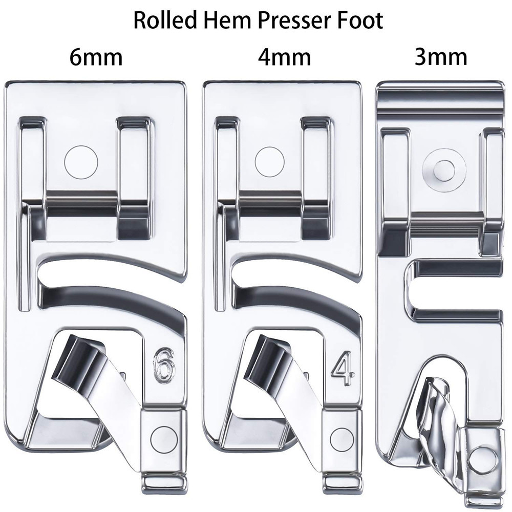 3 шт./лот 3 мм/4 мм/6 мм Мини Швейные машины лапку с засученными краями ухода за кожей стоп комплект для шитья футов поставки швейной фурнитуры