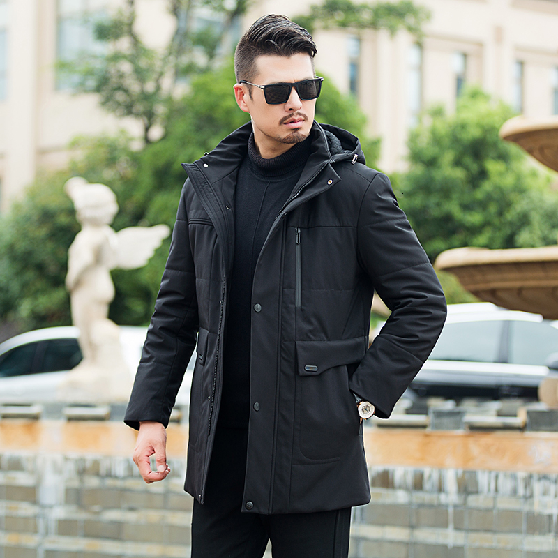 8XL 7XL 6XL Plus Size New Winter Long Down Jacket Men Brand Clothing Thick Warm Hooded Down Parkas Quality Duck Dow N Coat Black