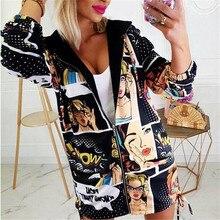 Mujeres Casual otoño con capucha Zip Up prendas de vestir exteriores señoras de manga larga Top Vintage vuelo largo abrigo chaqueta Casual caliente ropa deportiva Outwear
