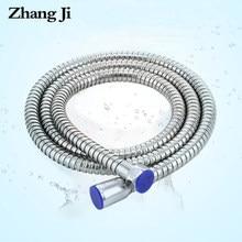 ZhangJi – tuyau de douche Flexible en acier inoxydable, tuyau de douche à main Durable en laiton, accessoires de salle de bains, tuyau de plomberie, 1.5/2 mètres